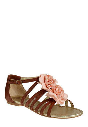 Eyes of Mars Sandal by Seychelles - Brown, Pink, Buckles, Cutout, Flower, Casual, Spring, Summer