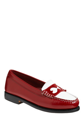 Rachel Antonoff for Bass Kissing Hearts Flat by Rachel Antonoff - Red, White, Cutout, Work, Casual, Menswear Inspired, Vintage Inspired, Nautical
