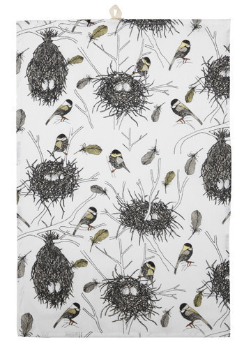 Chickadee Delight Tea Towel - Multi, Novelty Print