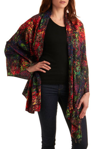 Neon Summer Shawl - Multi, Casual