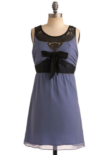 Olive Oil Tasting Dress - Purple, Black, Bows, Lace, Party, A-line, Sleeveless, Spring, Summer, Short
