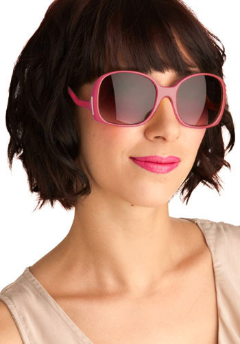 Hibiscus Hottie Sunglasses - Yellow, Pink, Solid, Casual, Statement, Spring, Summer