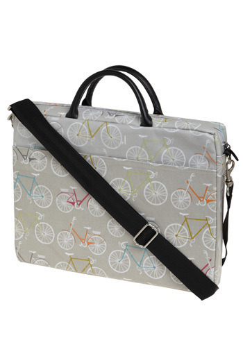Soft Spoken Style Laptop Bag - Grey, White, Orange, Green, Blue, Purple, Pink, Novelty Print, Work, Casual