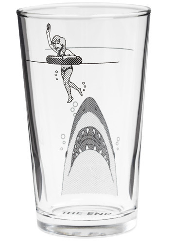 Sip at Your Own Risk Tumbler by Japanese Gift Market - Black, Print with Animals, Vintage Inspired, Nautical