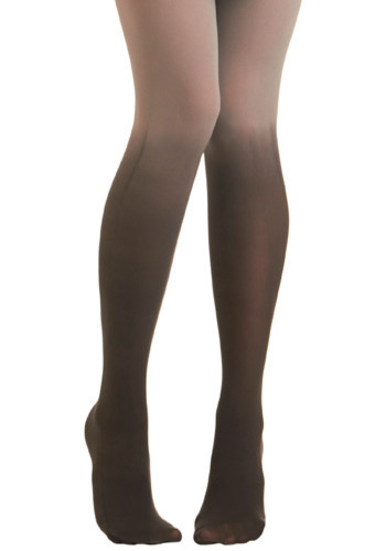 Got It Fade Tights in Charcoal - Black, Grey, Party, Casual, Winter, Sheer, Ombre, Variation, Fall
