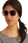 See Breeze Sunglasses - Blue, Gold, Casual, Spring, Summer