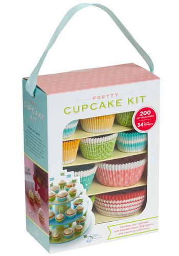 Pretty Cupcake Kit by Chronicle Books - Multi, Handmade & DIY
