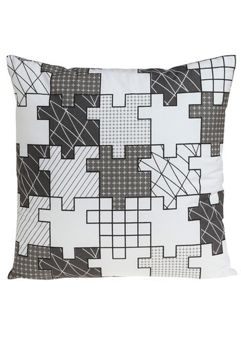 Destination: Tessellation Pillow - Black, Grey, White, Dorm Decor
