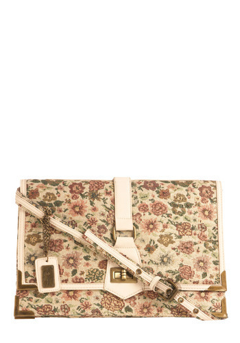 Field of Gleams Bag - Multi, Floral, Embroidery, Casual, Spring, Summer