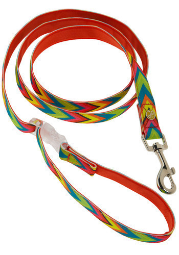 Right Bark 'Atcha Leash - Red, Multi, Orange, Yellow, Green, Blue, Pink, Herringbone