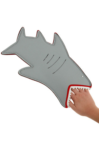 Jaws of Cooking Oven Mitt by Decor Craft Inc. - Grey, Nautical, Good