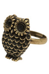 Owl Ring You Up - Gold, Rhinestones, Party, Work, Casual, Owls, Statement