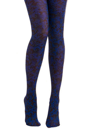 Edge of Ethereal Tights by Look From London - Blue, Multi, Red, Black, Floral, Casual, Spring, Summer