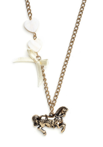 Show You Carousel Necklace - Gold