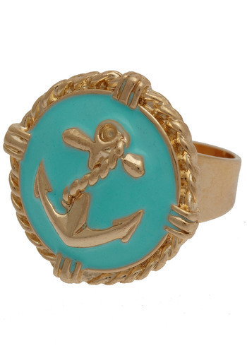 Easy Sailing Ring - Green, Gold, Casual, Nautical, Spring, Summer