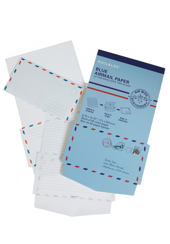 Out of Thin Air-mail Stationery Set by Kikkerland - Blue, Handmade & DIY, Holiday Sale