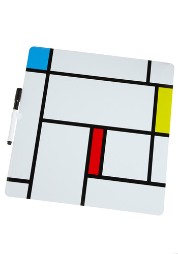 Simple Still Message Board by Kikkerland - White, Red, Yellow, Blue, Black, Work, Casual, Dorm Decor, Tis the Season Sale, Top Rated