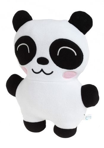 A Softer Side-kick in Panda - Black, White, Dorm Decor
