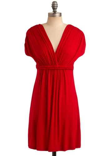 Closet Braid Dress in Ripe Cherry