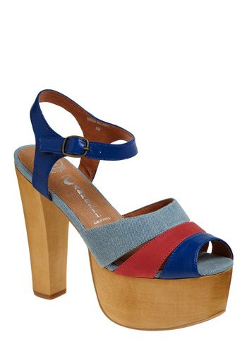 Sunset Beach Heel by Jeffrey Campbell - Blue, Red, Casual, Statement, Spring, Summer, Nautical