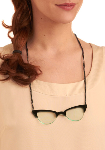 Destined for Frames Necklace - Black, Chain, Work, Casual, Vintage Inspired