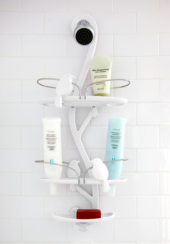 Extra Soar-age Shower Caddy - White, Print with Animals, Minimal, Press Placement, Best Seller, Best Seller, Graduation, Top Rated