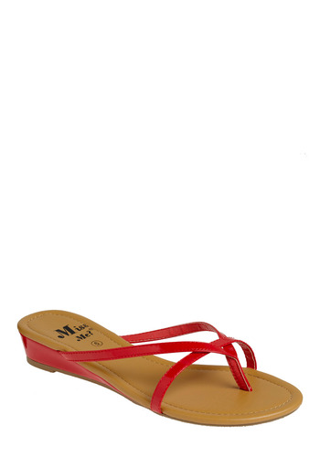 Simple Summer Day Sandal - Red, Casual, Spring, Summer