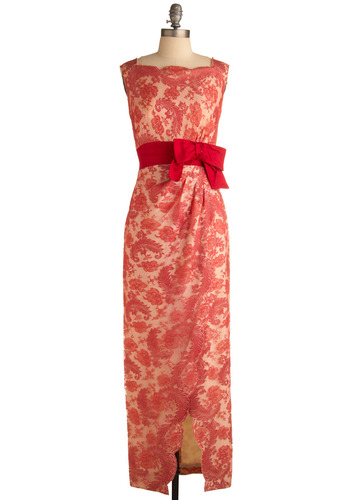Vintage In Full-Length Bloom Dress