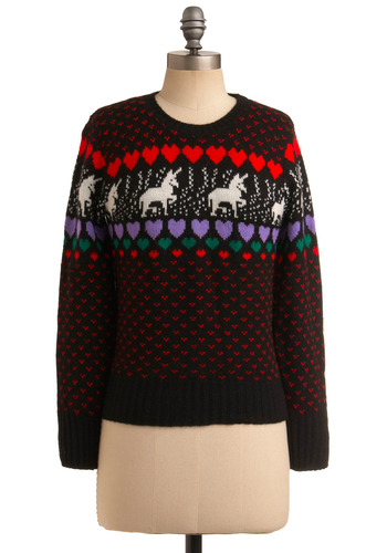 Vintage Fair Isle Fantasy Sweater