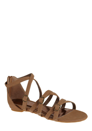 Haute Hiking Sandal - Brown, Tan, Solid, Casual, Spring, Summer