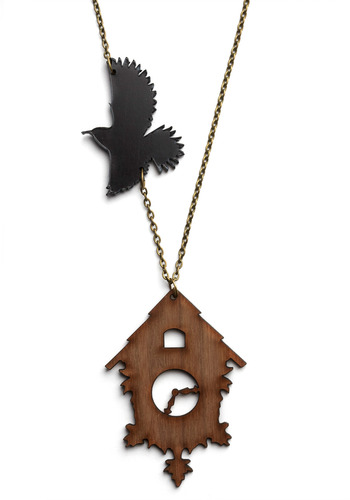 Flock Around the Clock Necklace - Brown, Black, Gold, Chain, Party, Work, Casual