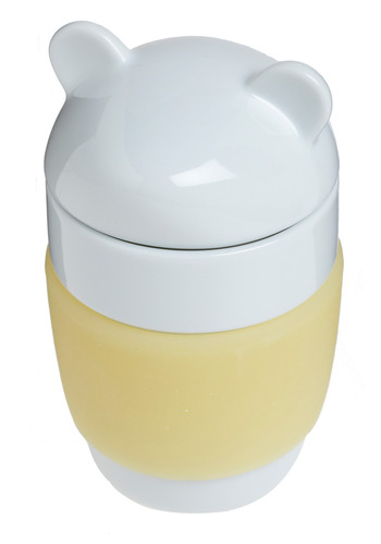 Wildlife Goes On Mug in Toby - Yellow, White, Dorm Decor