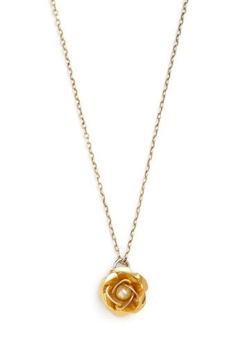 Vintage Rose a Toast Necklace