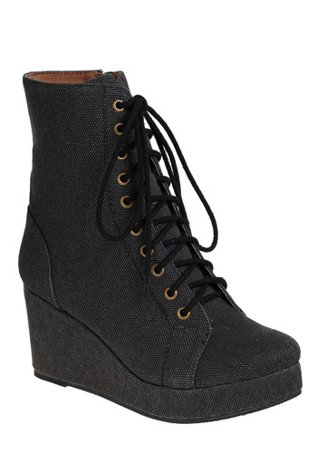 The Savvy Traveler Boot by Jeffrey Campbell - Black, Solid, Casual, Spring, Fall, Winter, Military