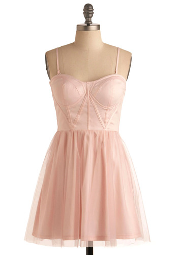 Straight to the Pointe Dress - Pink, Solid, Ruffles, Party, Casual, Ballerina / Tutu, Strapless, Spaghetti Straps, Short
