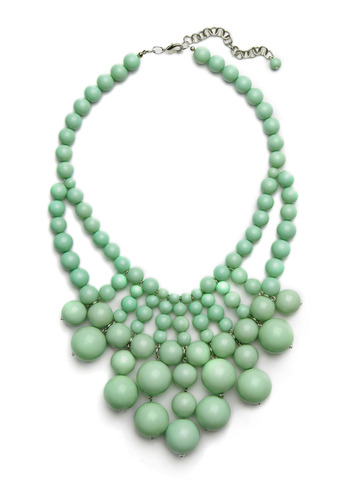 Hey, Jade Necklace - Green, Beads, Special Occasion, Wedding, Party, Casual, Statement
