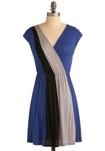 Floridian Flirtation Dress - Blue, Black, Grey, Casual, A-line, Cap Sleeves, Spring, Summer, Short