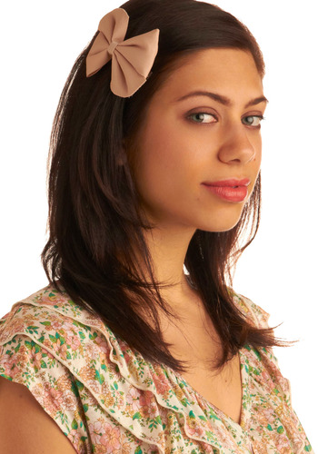 Hair You Go Hair Clip - Tan, Solid, Bows, Special Occasion, Wedding, Party, Work, Casual
