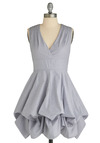 Ever-Changing World Dress - Blue, Solid, Cutout, Pleats, Casual, A-line, Sleeveless, Spring, Summer, Long