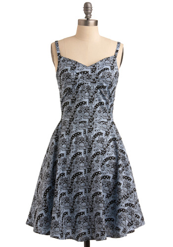 Blue-tification Project Dress | Mod Retro Vintage Printed Dresses | ModCloth.com :  whimsical sundress cotton blend urban