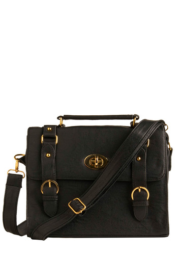 Career Calling Satchel - Black, Solid, Casual, Urban, Press Placement