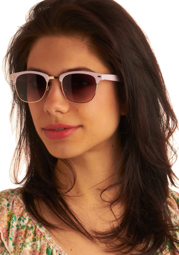 Follow that Fab Sunglasses - Purple, Gold, Casual, Vintage Inspired, Spring, Summer