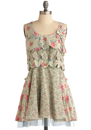 Greener Gardens Dress | Mod Retro Vintage Printed Dresses | ModCloth.com from modcloth.com