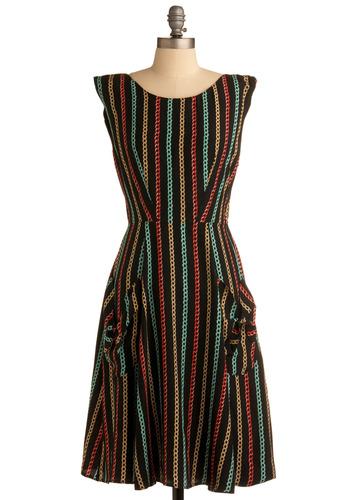 In the Headlines Dress | Mod Retro Vintage Printed Dresses | ModCloth.com