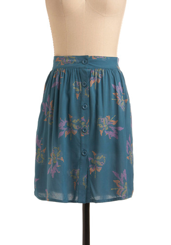 Turquoise Delight Skirt | Mod Retro Vintage Skirts | ModCloth.com :  retro inspired forest green button up pumpkin