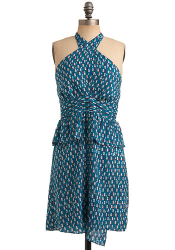 Summertime Living Dress | Mod Retro Vintage Printed Dresses | ModCloth.com :  sundress peplum summery wrap skirt
