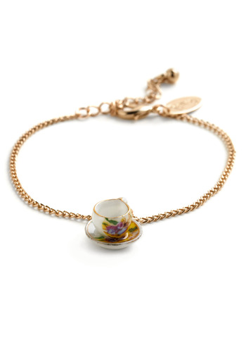Small Sips Bracelet - Gold, Multi, Party, Casual, Cocktail, Daytime Party