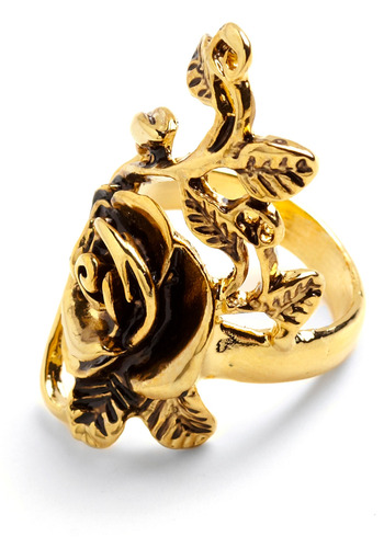 Enchantment of the Ring - Gold, Party, Work, Casual, Flower