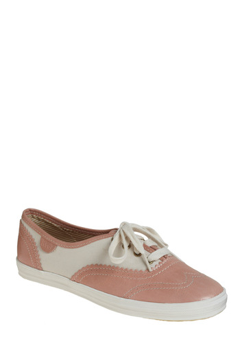 Makeup Day Sneaker by Keds - Pink, Casual, Rockabilly, White