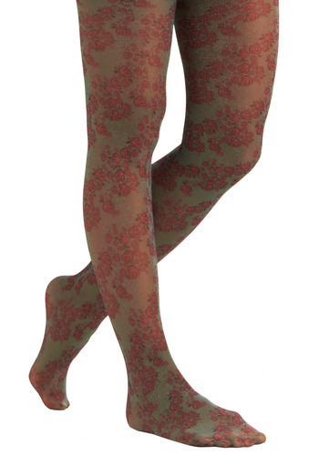 Sparkles and Flora Tights | Mod Retro Vintage Tights | ModCloth.com :  floral pink sparkly jazzy